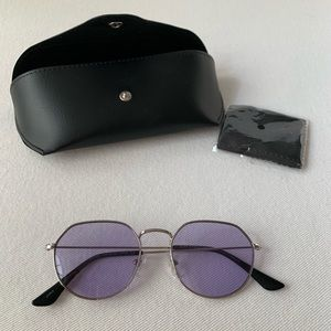 DIFF Eyewear | Purple+Silver Transparent Glasses